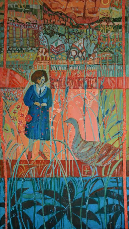 Myra for the unknown, 2019 schilderij 70x120cm