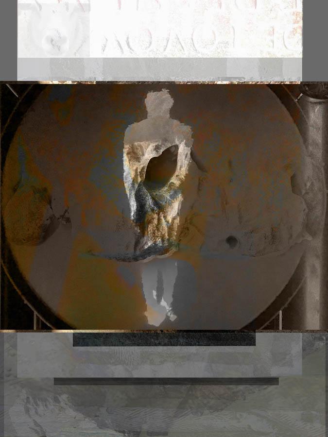 de verschuiving, 2020, mixedmedia, 29 x 38 cm