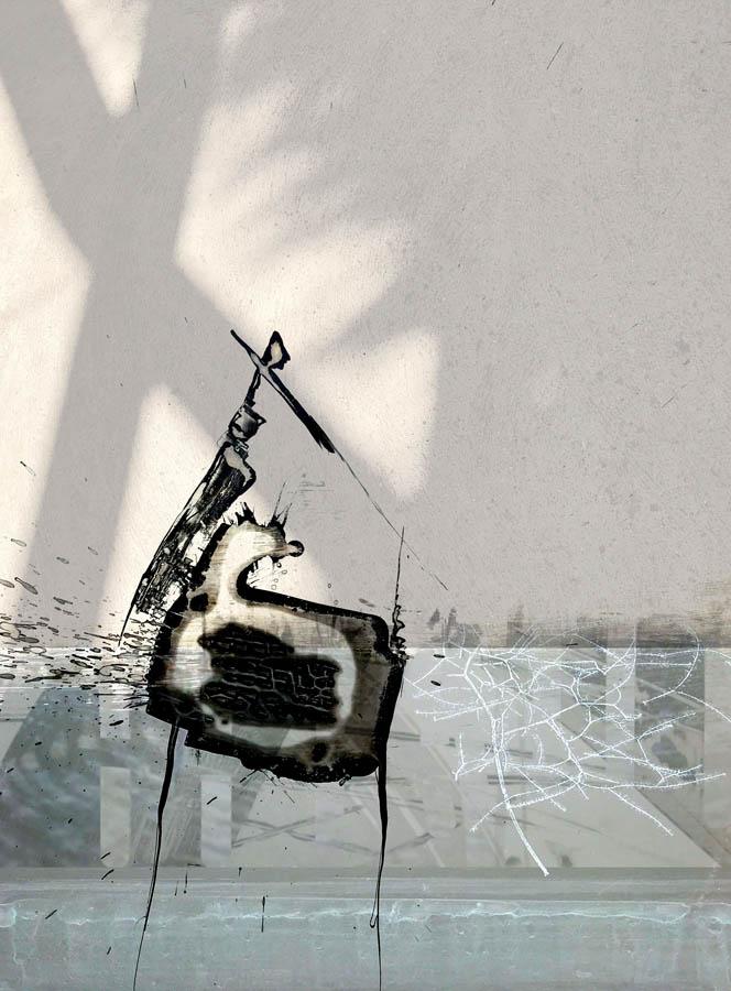 geborgenheid, 2020, mixedmedia, 30 x 40 cm