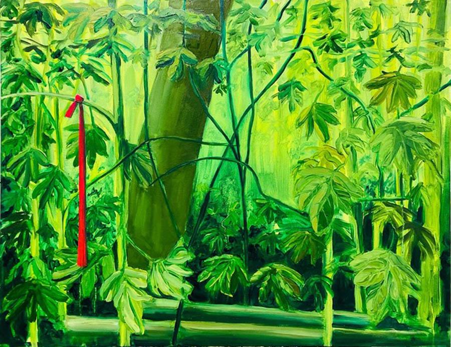 scavenger hunt, 2020, olie en acryl op doek, 90 x 70 cm