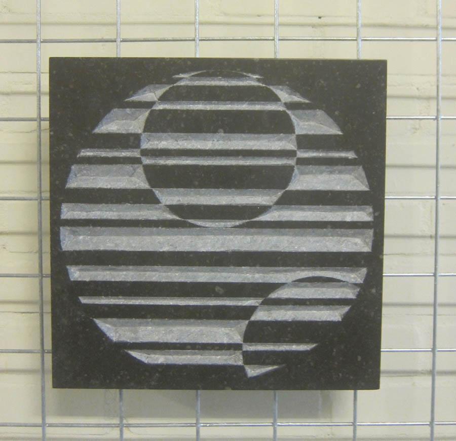 tableau # XV - circles # II, 2019, beeldhouwwerk, 30 x 30 x 3 cm