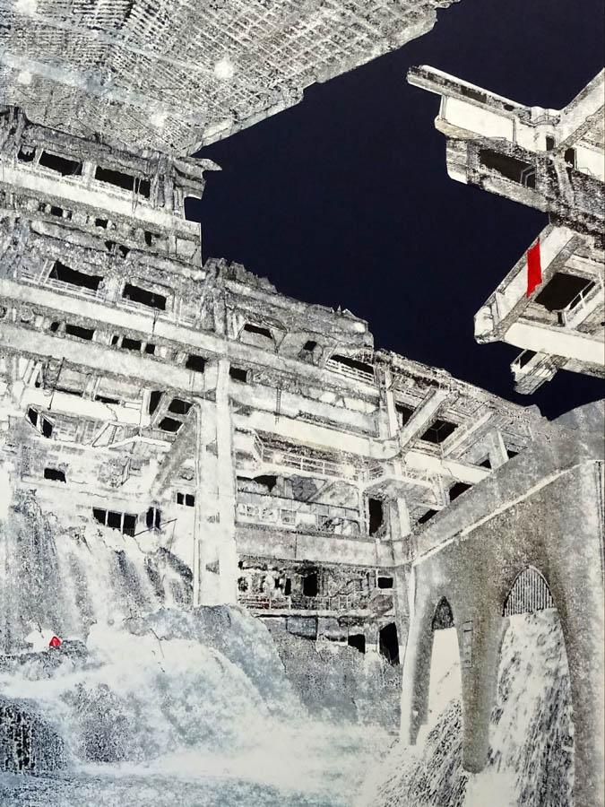Piranesi, 2021 print tekening 52x73cm